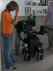 Camera on dolly